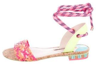 Sophia Webster Leather Woven Sandals w/ Tags
