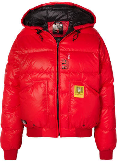 Brumal - + Reversible Quilted Shell Down Jacket - Red