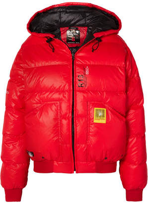 R 13 Brumal + Reversible Quilted Shell Down Jacket - Red