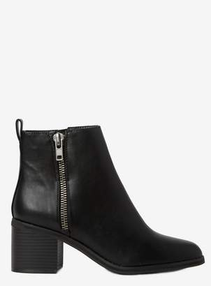 Dorothy Perkins Womens Black 'Alceed' Zip Ankle Boots