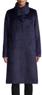 Eileen Fisher High Collar Faux Fur Coat