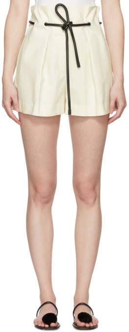 White Origami Pleated Shorts