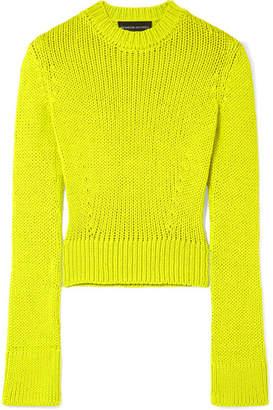 Brandon Maxwell - Cropped Wool-blend Sweater - Yellow