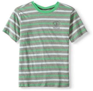 Beverly Hills Polo Club Boys Jersey Striped Crew Neck Tee