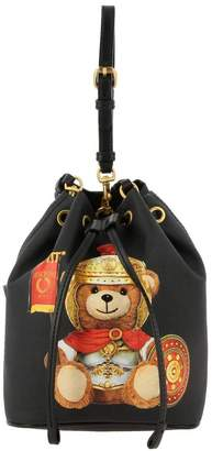 Moschino Mini Bag Bag In Synthetic Leather With Teddy Gladiator