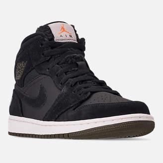 Nike Men's Air Jordan 1 Mid Premium Fleece Basketball Shoes