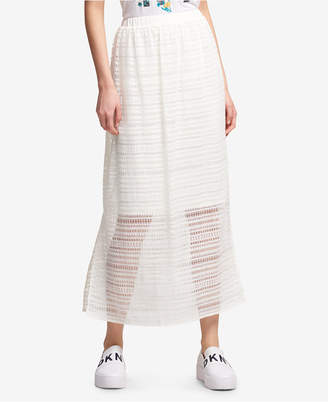 DKNY Lace Side-Slit Maxi Skirt, Created for Macy's