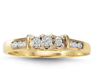 MODERN BRIDE Love Lives Forever 1/4 CT. T.W. Diamond 3-Stone Ring