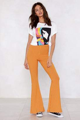 Nasty Gal Flare to be Different Striped Pants