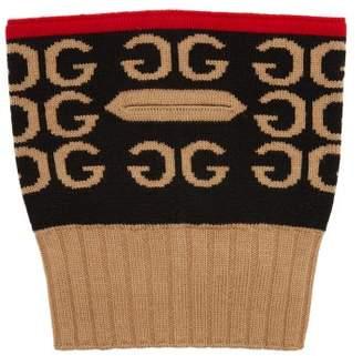 Gucci Gg Intarsia Wool Balaclava - Womens - Red