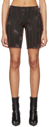 Black Orchid Helenamanzano SSENSE Exclusive Orange and Rave Bike Shorts