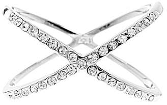 Sterling Forever Women's Sterling Silver Sparkling X Ring
