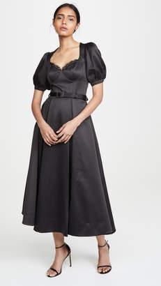 Self-Portrait Self Portrait Black Midi Dress