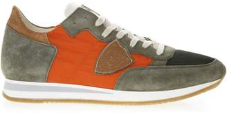 Philippe Model Multicolor Tropez Sneakers In Suede Leather And Nylon Details
