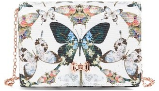 Ted Baker London Strisa Butterfly Print Clutch - Ivory $129 thestylecure.com