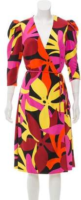 Naeem Khan Printed Silk Dress w/ Tags