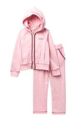 Juicy Couture Pink Scottie Dog Fleece Hoodie & Pants Set (Little Girls)