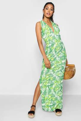 boohoo Plunge Front Jersey Maxi Dress