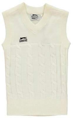Slazenger Kids Boys Classic Cricket Vest Junior Tank Top V Neck Cotton