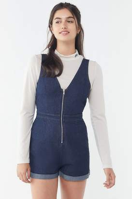 Urban Outfitters Denim Zip-Front Romper