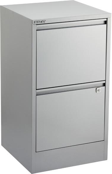 Bisley 2-Drawer File Cabinet Silver