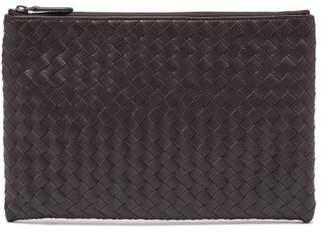 Bottega Veneta Intrecciato Leather Pouch - Mens - Brown