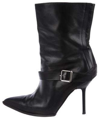 Narciso Rodriguez Pointed Ankle-Strap Booties