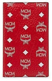 MCM Women's White Logo Visetos Coated Canvas Passport Holder