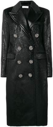 Faith Connexion double-breasted snake print coat