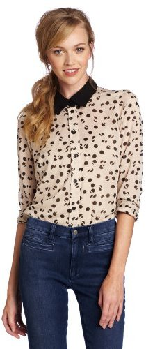 BCBGeneration Women's Contrast Collar Shirt