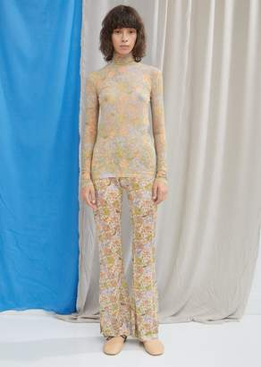 Acne Studios Lurex Flared Floral Trousers