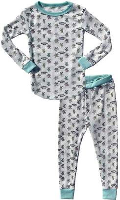 Rowdy Sprout Youth Dancing Bears PJ Thermal Set