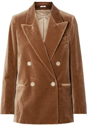 Acne Studios Double-breasted Cotton-velvet Blazer - Camel