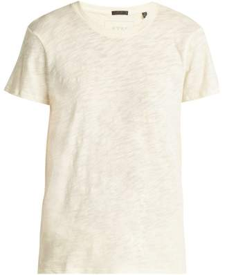 Atm - Schoolboy Cotton Slub Jersey T Shirt - Womens - Yellow