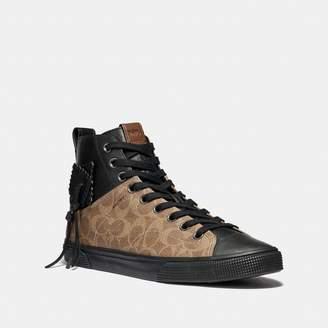 Coach C220 Signature High Top Sneaker