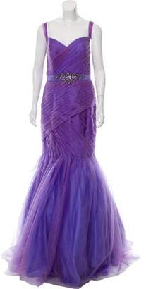 Terani Couture Pleated Mermaid Dress