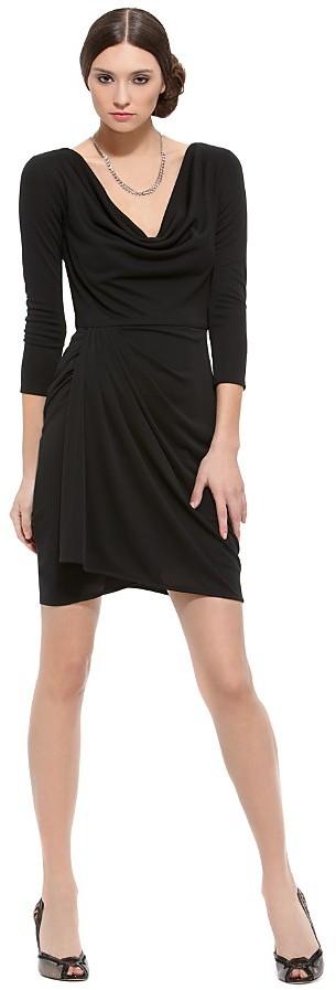 BCBGMAXAZRIA Jersey Cowlneck Dress with Keyhole