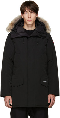 Canada Goose Black Down & Fur Langford Parka $900 thestylecure.com