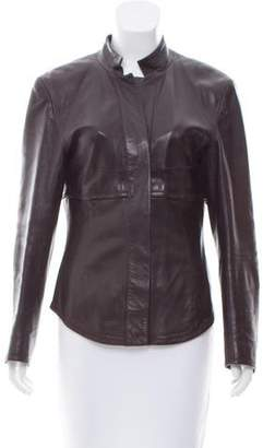 Narciso Rodriguez Leather Button-Up Jacket