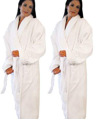 Pureaid Adult Shawl Collar Terry Cotton Bath Robe For Men & Women