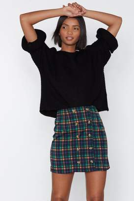 Nasty Gal Straight A's Plaid Skirt