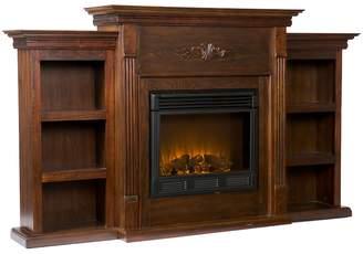 Southern Enterprises Tennyson Bookcase Electric Fireplace