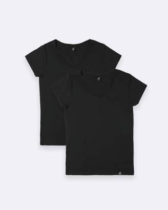 2 Pack V-Neck T-Shirt Black