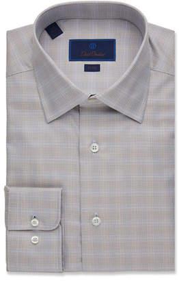 David Donahue Men's Trim-Fit Glen Plaid Dress Shirt