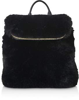 Whistles Mini Verity Faux Fur Backpack