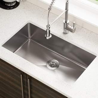 """3.1 Phillip Lim MRDirect Stainless Steel x 18"""" Undermount Kitchen Sink Stainless Steel Thickness: 18-Gauge"""