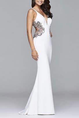 Faviana Long Fitted Neoprene Dress