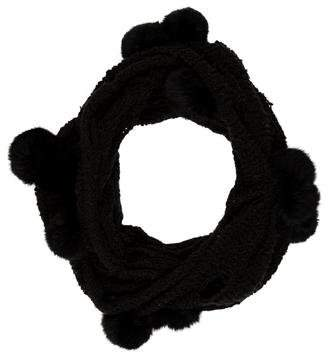 La Fiorentina Knit Fur-Trimmed Scarf