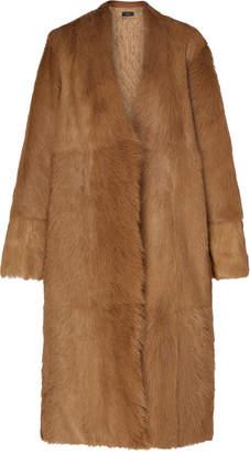 Joseph Owin Belted Fur Coat
