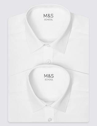 Marks and Spencer 2 Pack Boys' Non-Iron Shirts